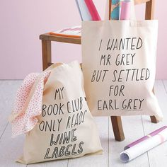 silly slogan tote bag by the joy of ex foundation | notonthehighstreet.com