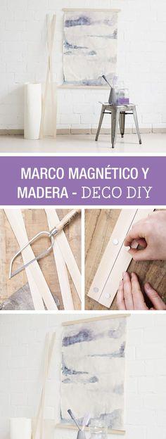 Tutorial DIY - CÓMO HACER UN LIENZO DECORATIVO CON LISTONES DE MADERA