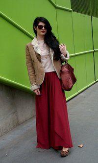 Paris Fashion Week Day 1  Full-length skirt by Marilicious (coming soooooon)