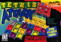 Tetris Attack Box Cover Art (SNES/Gameboy)