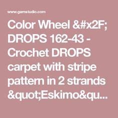 """Crochet DROPS bag in """"Bomull-Lin"""" with flounces in """"Cotton Viscose"""". Drops Design, Mandala Rug, Folk Dance, Cotton Lights, Free Crochet, Crochet Rugs, Color Patterns, Crochet Projects, Free Pattern"""