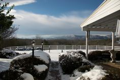 Isn't that just beautiful?! I love the way the snow has dusted the Blue Ridge Mountains in the distance.