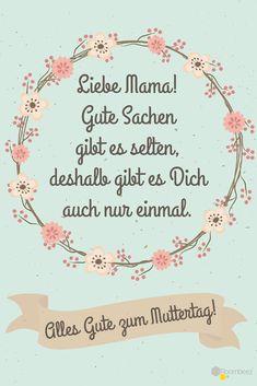 #Spruch #Muttertag #Grüße #Muttertagssprüche Auf ROOMBEEZ gibt es 19 weitere Sprüche & Grüße für den Muttertag ♥