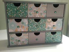 Kaisercraft drawer storage unit covered with Elegance papers