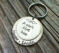 father's day coin keyring