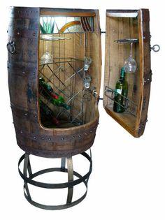 wine barrel wine rack - this is so cute