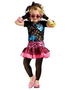 80S Pop Party Child 4-6 Kids Girls Costume