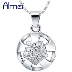 Find More Pendant Necklaces Information about 925 Sterling Silver Necklace Girl Collares Mujer Collier Fille Big Fashion Necklaces for Women Pedrarias E Cristais Ulove N703,High Quality necklace display stands wholesale,China necklace strass Suppliers, Cheap necklace medal from ULove Fashion Jewelry Store on Aliexpress.com