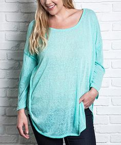 This Emerald Dolman Tunic - Plus is perfect! #zulilyfinds