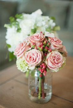 Pink & White Centerpieces