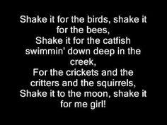 Country girl shake Music (Shake it for me) - Luke Bryan Lyrics