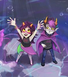 Awww squee eridan Feferi I ship them :3 look how happy they were before everything got terrible