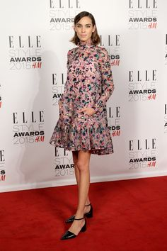 Pin for Later: It's Impossible to Describe Alexa Chung's Style  Keeping it pretty, Alexa wore Erdem to the Elle Style Awards in 2015.
