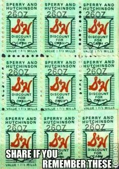 Memory lane:  I should be green, I've licked literally THOUSANDS of S&H Green Stamps in my day!  It's how I was able to afford holiday presents for others, how I built up my Hope Chest, and it kept me off the streets (ha)!  There's a HILARIOUS story in my family about my Mom & these stamps.  I almost pee laughing every time I think about it!!!!