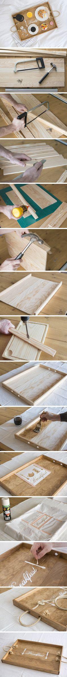DIY breakfast tray - DIY bandeja de desayuno