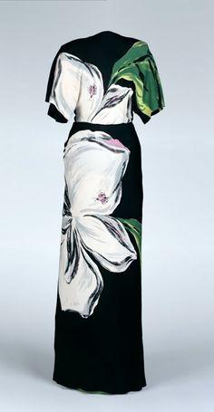 Ephemeral Elegance   Rayon Flower Dress, 1945 Gilbert Adrian via...