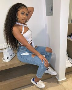 Cute Swag Outfits, Dope Outfits, Girl Outfits, Summer Outfits, Fashion Outfits, Fashion Tips, Fashion Hacks, Modest Fashion, 90s Fashion
