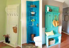 reuse a door - riutilizzare e trasformare una vecchia porta   #porte #doors