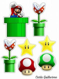 Super Mario Bros, Super Mario Birthday, Mario Birthday Party, Super Mario Party, Super Mario Brothers, Diy Birthday, Bolo Do Mario, Bolo Super Mario, Mario Cake