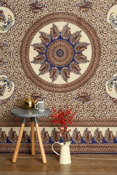 Paisley Round Medallion Tapestry Throw at Urban Outfitters