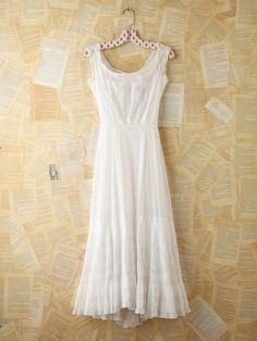 I like the width of the straps...Free People Free People Vintage Cotton Maxi Dress, $398.00 (sold)