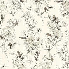 450-67371 Green Floral Toss - Jolie - Beacon House Wallpaper