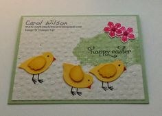 Happy Easter with Stampin'Up bird punch, Everything Eleanor, Delightful Dozen stamp sets and Petite Petals bundle