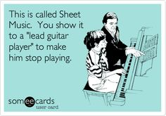 This is called Sheet Music. You show it to a 'lead guitar player' to make him stop playing.