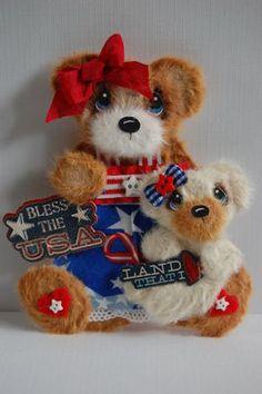 patriotic tear bears