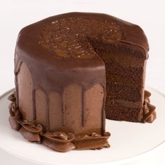 You would never know this is a vegan cake! This is a delicious chocolate cake filled and frosted with a rich chocolate frosting. Share a piece with your non-vegan friends: They will never know they are eating vegan and they are sure to ask for seconds!
