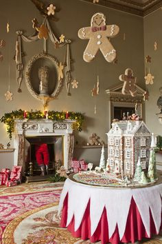 The gingerbread house, hand made by 'Buns of Fun'. Holkham Estate ~