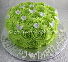 Ombre Buttercream Roses Cake and Crazy Comments Cake Birthdays