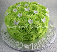 Simply Sweets by Honeybee: Rose Swirl Birthday Cake