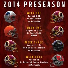 2014 Redskins Preseason Schedule                                              Watching Now - HTTR‼️