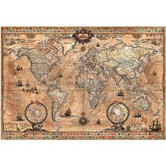 64 best mapas images on pinterest puzzles jigsaw puzzles and worldmap educa antique world map jigsaw puzzle 1000 pieces gumiabroncs Gallery
