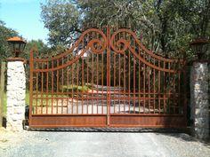 Wrought Iron Driveway Gate – 019