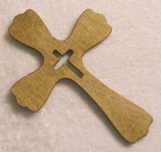 Fancy Handcrafted Wood Cross by ticc for $10.00