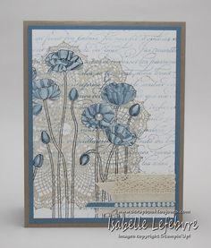 Tout à fait féminin. Fait avec le jeu d'étampes : pleasant poppies Cute Cards, Diy Cards, Your Cards, Poppy Cards, Making Greeting Cards, Dandelions, Penny Black, Card Making Inspiration, Flower Cards