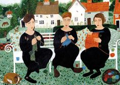 Village Knitters by Dee Nickerson