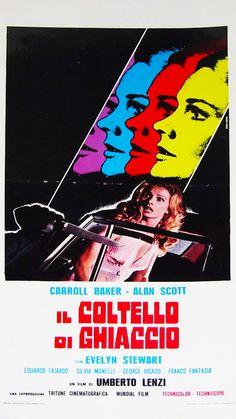 Carroll Baker on the poster for Knife of Ice (Umberto Lenzi, 1972)