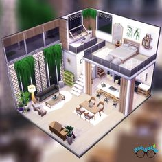 Loft Interiors, Cozy Cabin, Bedroom Wall, Sims 4, Indoor, Mansions, Studio, House Styles, Gallery