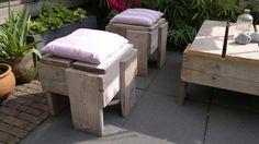 Michel's blog - Zelf tuinmeubelen maken van steigerhout #DIY Bekijk meer tips op www.tuinen.nl