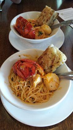 The Mooring - Newport, RI, United States. Seafood pasta split into 2 bowls