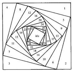 SquareTemplate - iris fold. website also includes colour guide