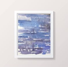 A personal favorite from my Etsy shop https://www.etsy.com/listing/560439663/blue-painting-abstract-watercolor-modern