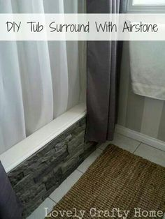 Diy tub surrounded air stone