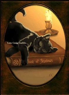 Black cats and the book of shadows. pagan wiccan witch witchcraft