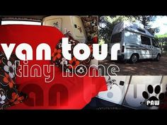 LIVING IN A TINY FORD TRANSIT, CONVERTED VAN TOUR, family of four! - YouTube