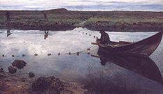 The Salmon Fisher --   by Eilif Peterssen, 1889