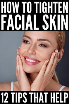 Tighten Under Eye Skin, Tighten Neck Skin, Tighten Facial Skin, Skin Tightening, Skin Firming, Face Exercises, Face Yoga, Sagging Skin, Anti Aging Tips